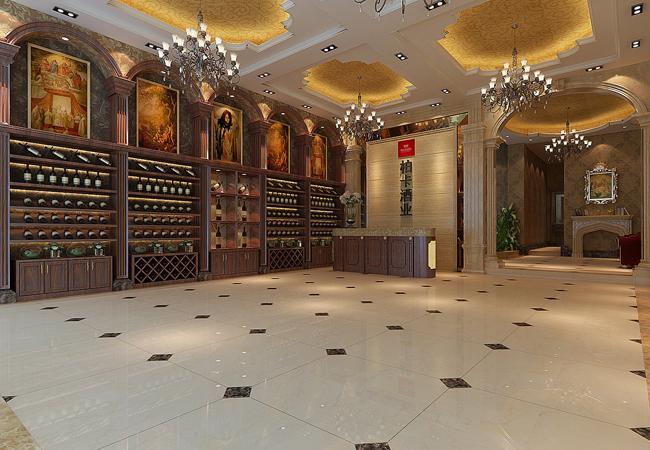 柏卡酒业260平方米复式酒庄装修效果图